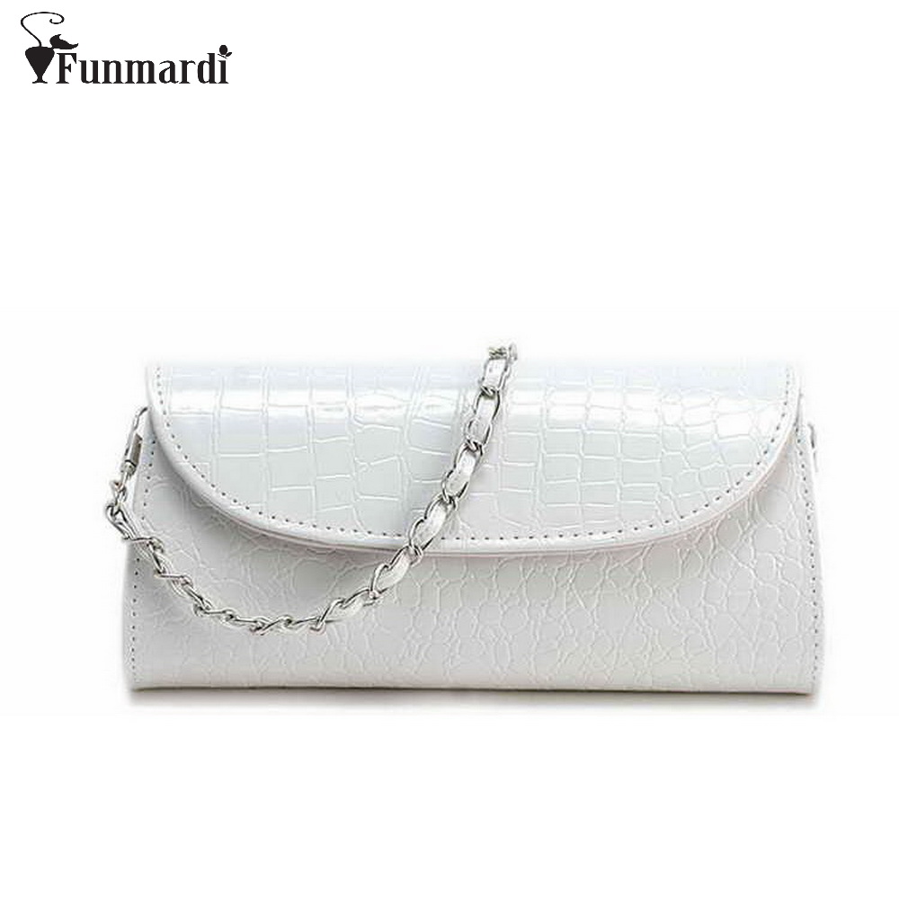New arrival summer CROCO design PU leather Clutch bags chain small Evening Bags fashion trendy messenger bags WLHB307(China (Mainland))
