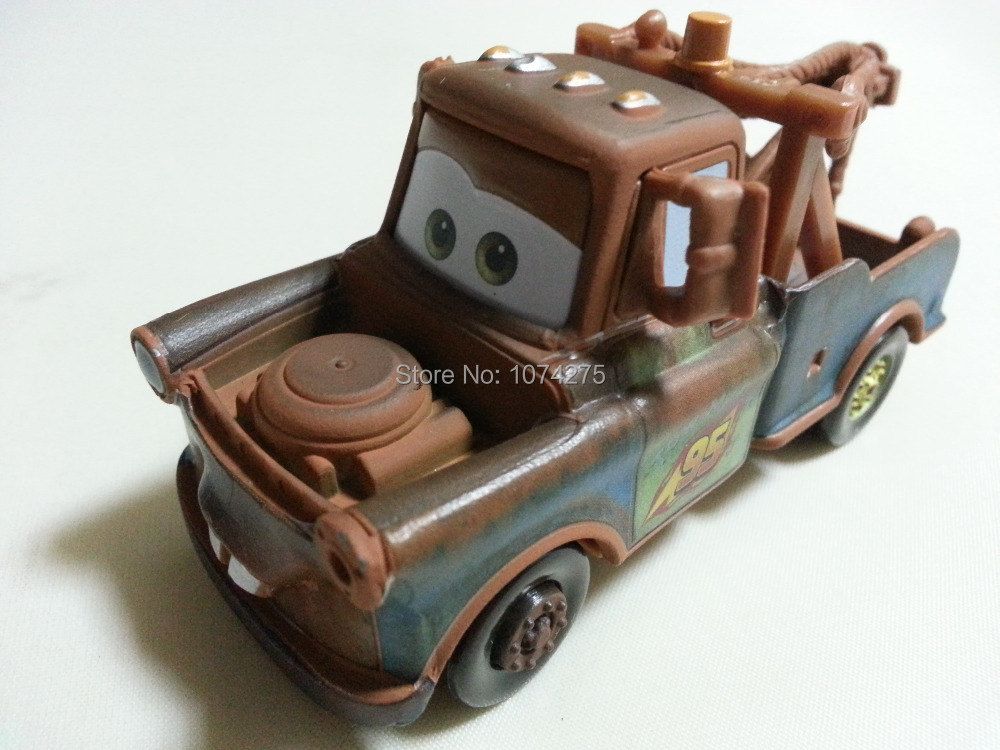 Pixar Cars Race Team Mater Metal Diecast Toy Car 1:55 Loose Brand New In Stock & Free Shipping(China (Mainland))