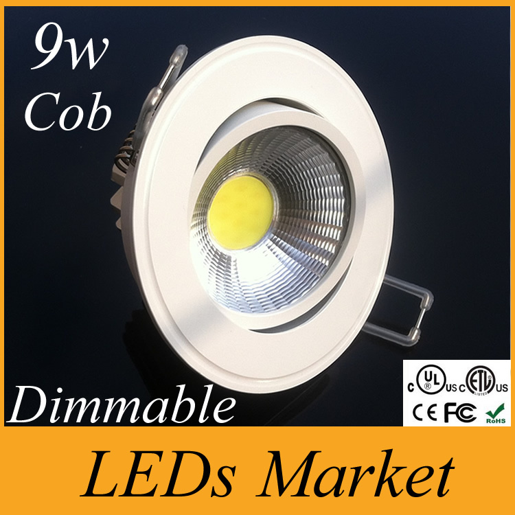 30% sale off Led Ceiling Downlight Recessed Cob Led Light lamp lighting 9w Cob Led Down Light Warm Cold White 110-240v CE CSA UL(China (Mainland))