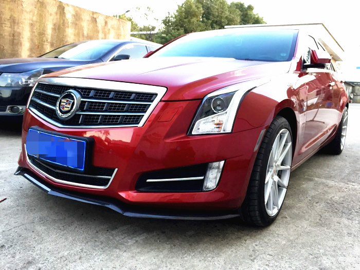 ATS front splitter-D3 style carbon fiber front spoiler lip splitter for Cadillac ATS (not fit coupe)  nice quality and fitment!