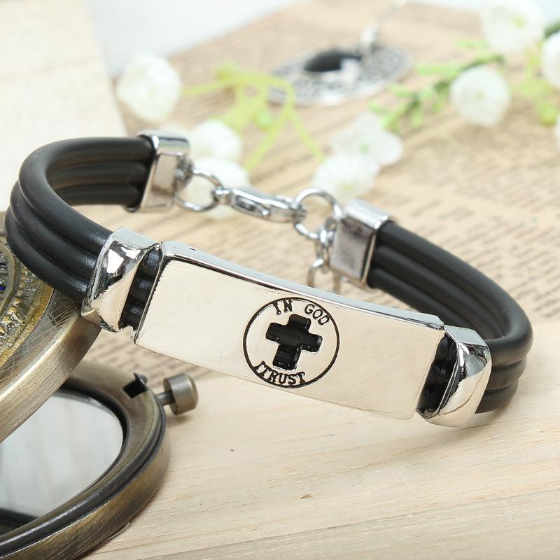 Religious Jewelry Bracelets Christian cross metal drip gift shop supply(China (Mainland))
