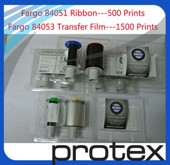 Fargo ribbon 84051 and 84053 sells in pack -1 roll of 84053 & 3 rolls of 84051 -for HDP5000 card printer & free shipping