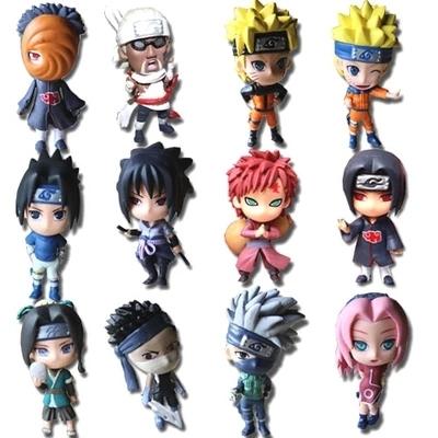 """12 шт. полный комплект Q издание наруто аниме фигурки коллекция пвх 3 """" Naruto цифры модель игрушка комплект"""