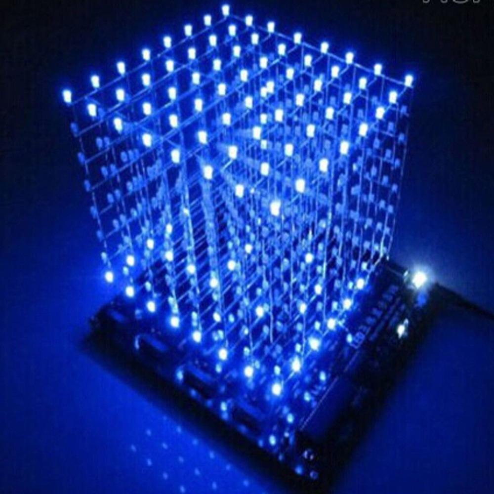 3D LightSquared DIY Kit 8x8x8 3mm LED Cube White Blue Ray Good - Artduinoworld store
