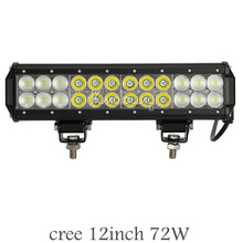 Cree Straight 12inch 72W 3D Offroad Spot Flood Combo Beam LED Light Bar For Driving Tractor Trailer 4×4 SUV ATV Led Lamp 12V 24V