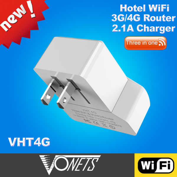 VONETS Portable 3G / 4G Wi-Fi Router/ WiFi Repeater/2.1A USB charger - VHT4G (US Plug)(China (Mainland))