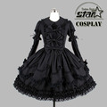 Halloween Costumes for Children Girlst Southern Belle Costume Black Victorian Dress Ball Gown Gothic Dress Plus