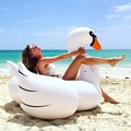 1 5M 60 Inch PVC White Giant Rideable Swan Inflatable Float Toy Pool Swim Ring Holiday