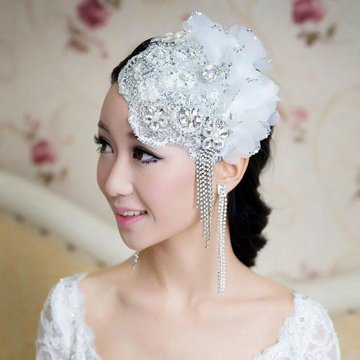 2015 new arrival cheap delicate bridal fascinators with
