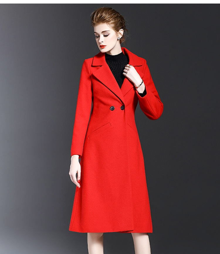 Red Wool Coat Women Promotion-Shop for Promotional Red Wool Coat ...