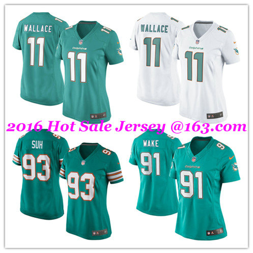 2016 NO1 Women's New arrival @1 Style Miami @1 Dolphins @1 free shipping Jer Stitched logo,ship out fast(China (Mainland))