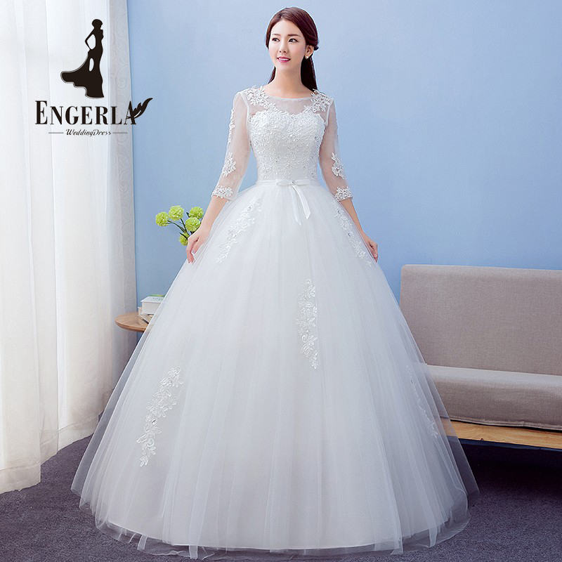 Buy high quality bow knot lace wedding for Princess plus size wedding dresses