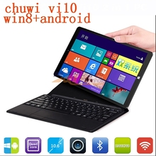 2 IN 1 pc tablet 10.6″ Original Chuwi VI10 dual boot quad core wifi 2G 32G win 8.1+ Android 4.4 HDMI 2.13GHz Chuwi V10