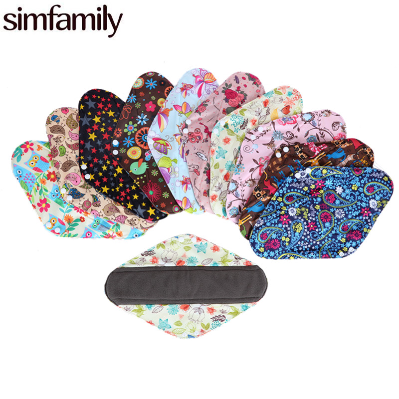 [simfamily]1PC Reusable Waterproof Over Night Menstrual Cloth MaMa Sanitary Pads,Feminine Hygiene,XL Size,Wholesale Selling