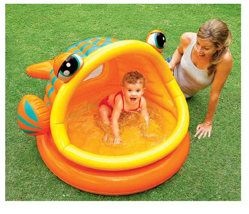 Buy fish mouth round shape paddling pool inflatable swimming pool baby bathtub for Can babies swim in saltwater pools