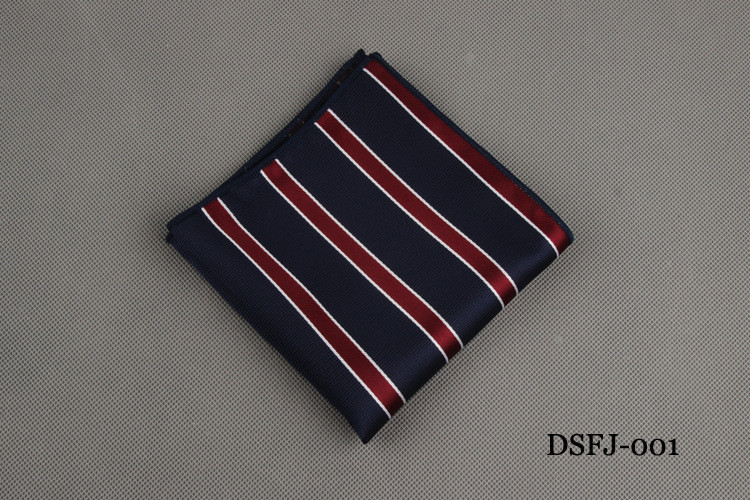 Classic Polka Dots Striped Handkerchief for Wedding Polyester Printed Hankies Men's Fashion Business Suits Pocket Square Towel