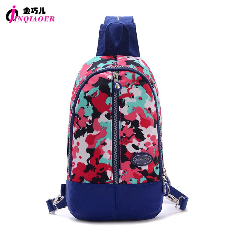 JINQIAOER Multifunctional Women Mini Backpack Waterproof Nylon Rucksack Chest Bag Original Brand Travel Backpack For Laptop iPad(China (Mainland))