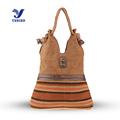 YUBIRD Brand Large Capacity Bag for Women Casual Big Pocket Shoulder Tote Bag Fabric Rivet Vintage