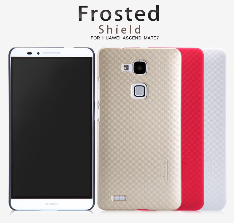 Huawei Ascend Mate 7 case,Nillkin Super Frosted shield series hard PC back cover case for Huawei Mate7 with screen protector(China (Mainland))