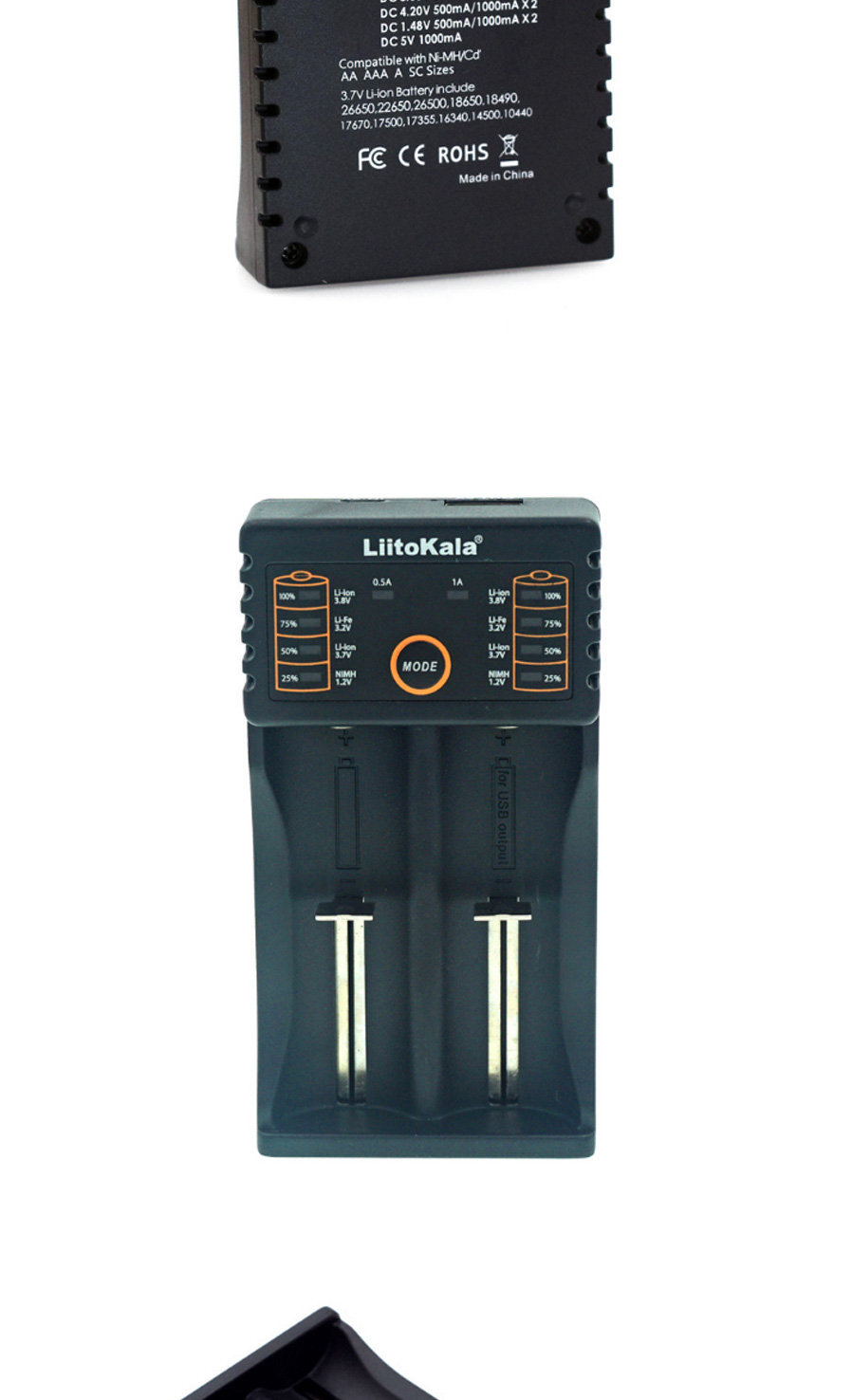 Liitokala Lii 202 Usb Dual Slot Li Ion Ni Mh Cd Battery Charger For Baterai 14500 Batre Recharge Aa A2 37v Stop Output Protection Voltage 3001v Compatible Imr 18650 18490 18350 17670 17500 16340 Rcr123 10440