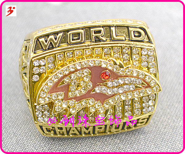 New size 11 2000 Baltimore Ravens Super Bowl replica championship rings(China (Mainland))