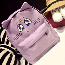 2016 Designer Women Canvas Backpacks Cat Eyes Animal Printing School Bags For Teenagers Girl Rucksack Laptop Bagpack Mochilas(China (Mainland))