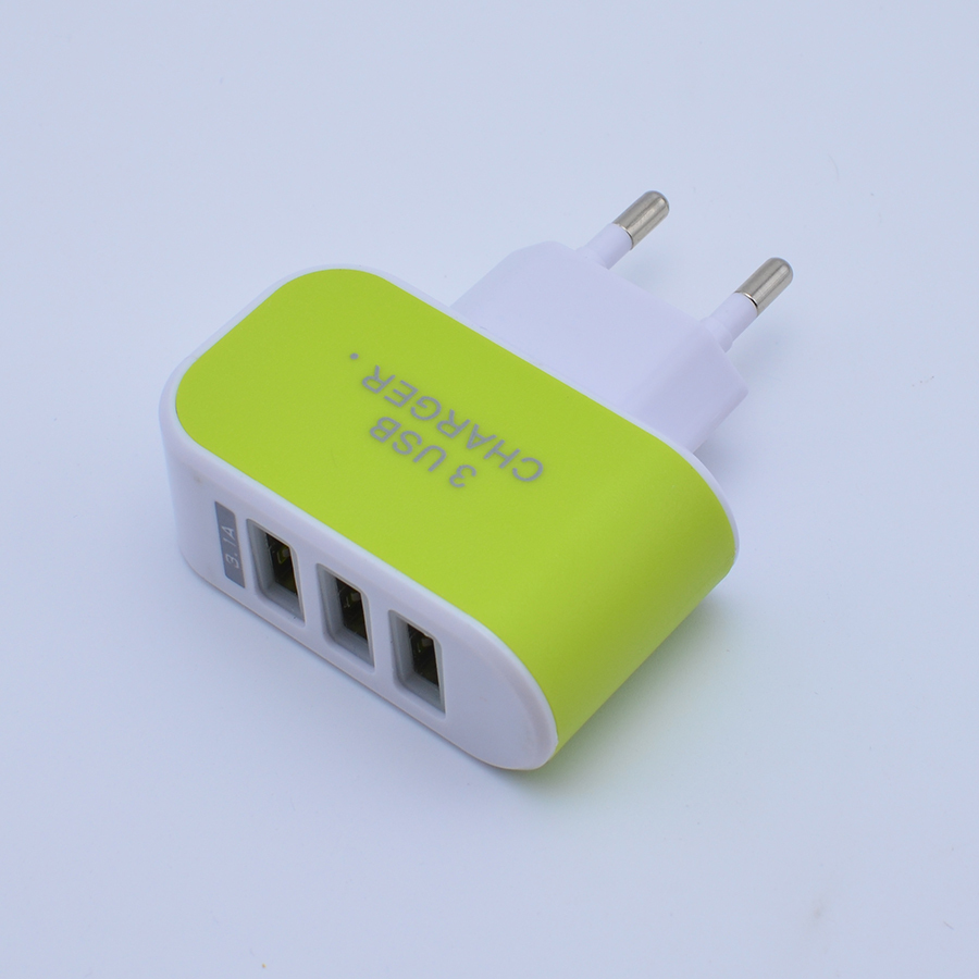 Portable 3 USB Port EU US Plug Wall Charger Travel AC Power Adapter For iPhone Samsung Galaxy Phone Accessories