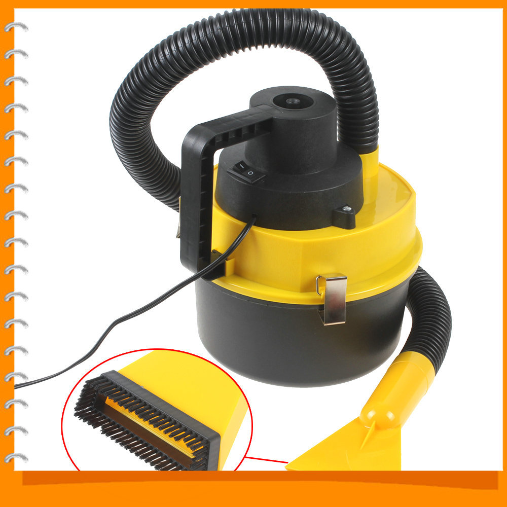 Wet & Dry 12V Portable Auto Car Dust Vacuum Cleaner Handheld Mini Car Vacuum Cleaner with Brush / Crevice / Nozzle Head(China (Mainland))
