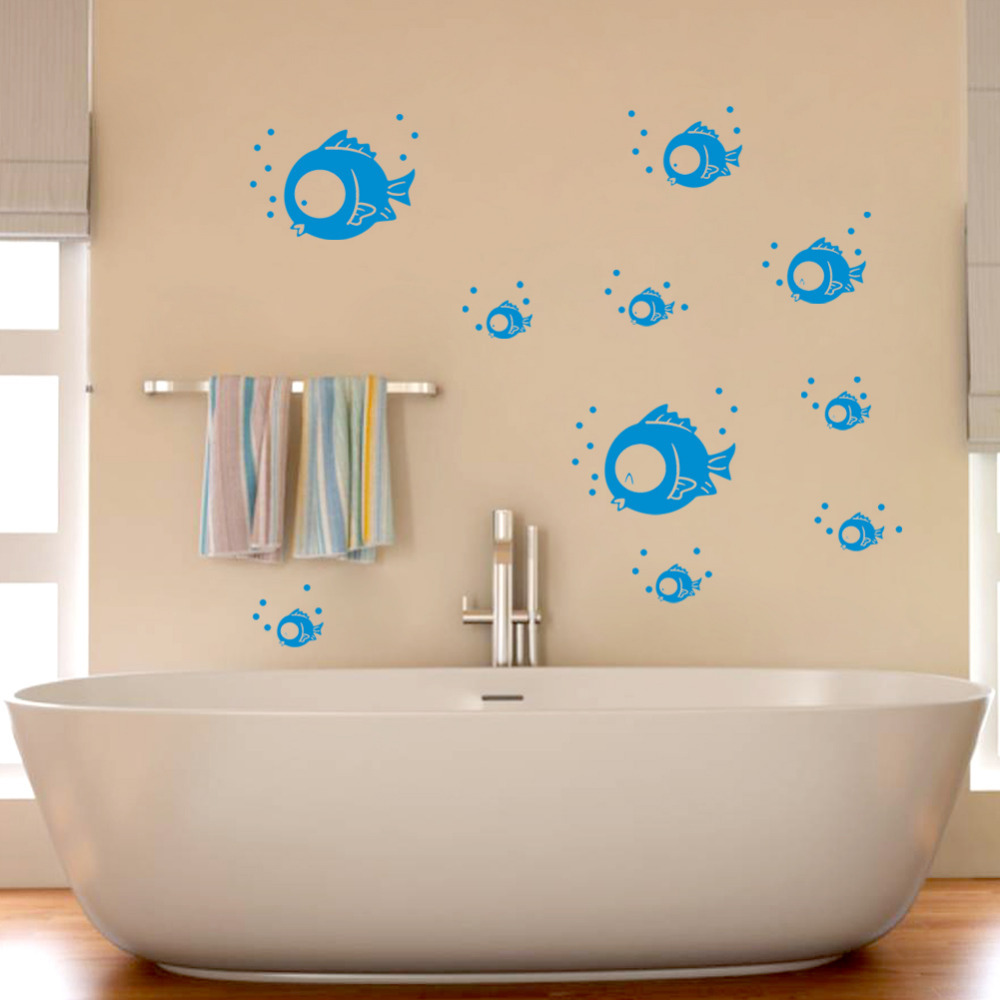 Bathroom Fish Decor Decal Tattoo Picture More Detailed Picture About Creative Fish