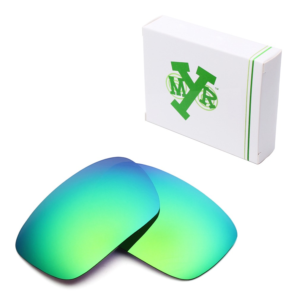 MRY POLARIZED Replacement Lenses for Oakley Badman Sunglasses Emerald Green