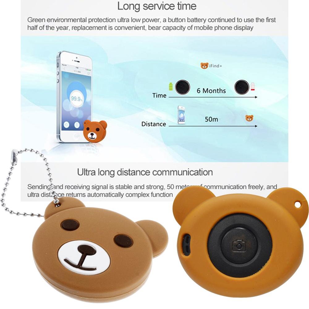 Фотография Universal Wireless Remote Shutter Self-Timer Bluetooth 4.0 Anti-Lost Intelligent Finder for iPhone iPad Android 4.3+
