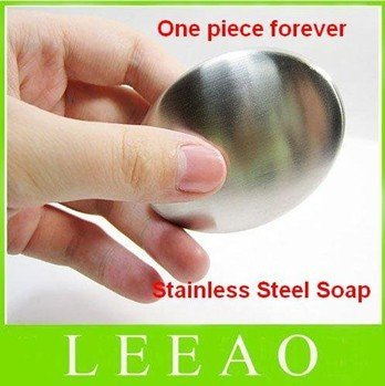 100pcs/lot RA Stainless Steel Soap Eliminate Remove Odor Smell Tool Kitchen Bar Eliminating Odor Fresh Free Shipping