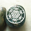 Metatron s Cube pendant Silver plated necklaces pendants with 60 cm chain for women As rotating