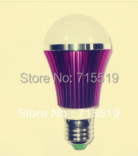 New style Brand new global bulbs E27 5w purple body warm white white 50pcs 550lm(China (Mainland))