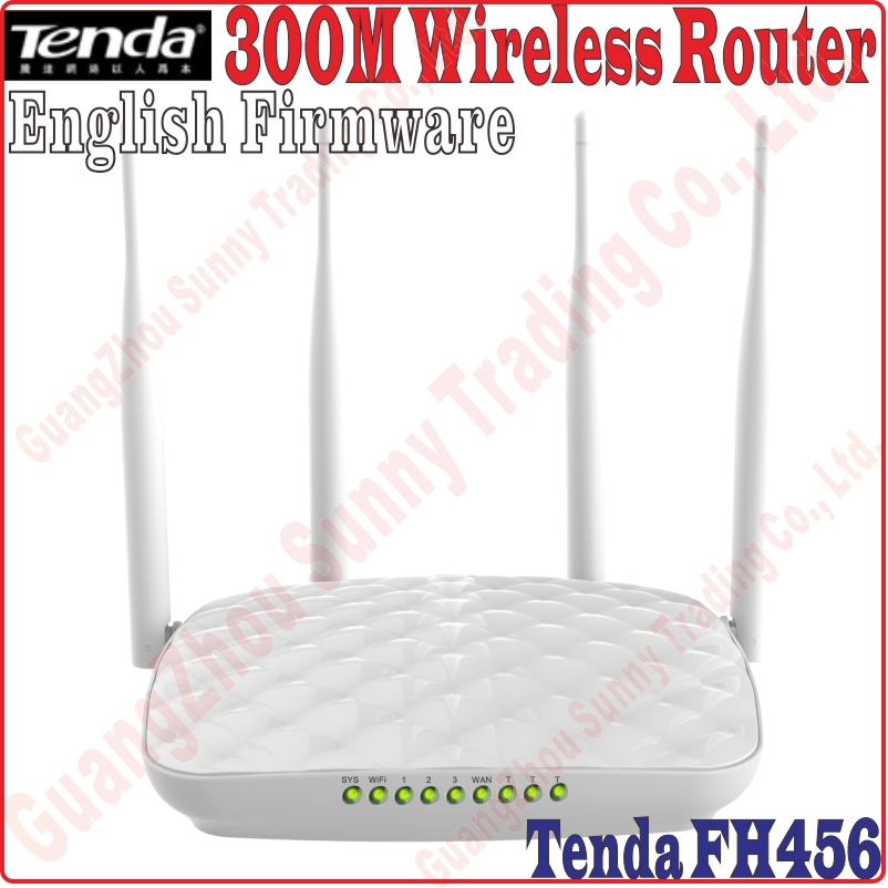 Eng-Firmware Tenda FH456 300M Wireless WIFI router 4 Antenna Router WISP Client+AP Dynamic / Static IP, New Through Walls Router(China (Mainland))