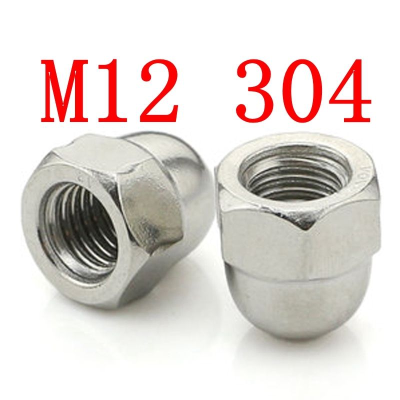 M12 304 HEX CAP ACORN NUTS COARSE STAINLESS STEEL  FASTENERS HARDWARE<br><br>Aliexpress