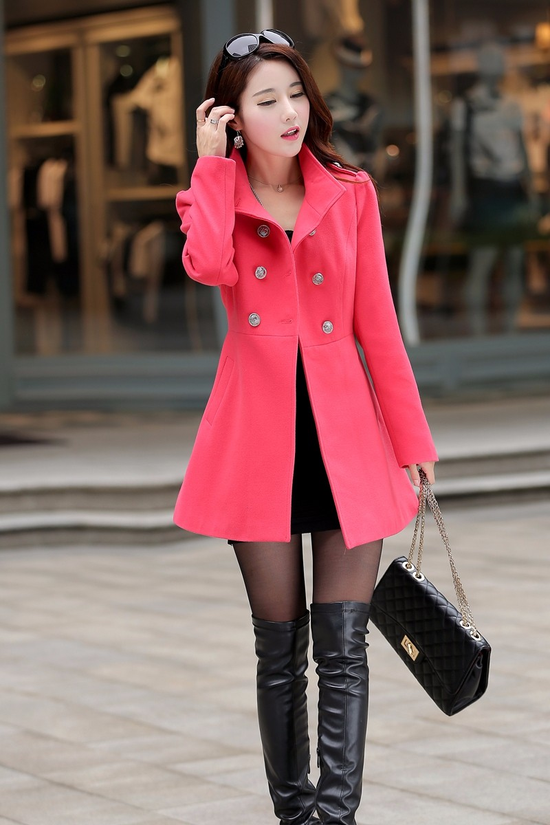 New Women's Winter Parkas Coat Solid Slim Korean Women Plus Size Down Cotton Clothes Hooded Fur Collar Female Long Padded Jacket