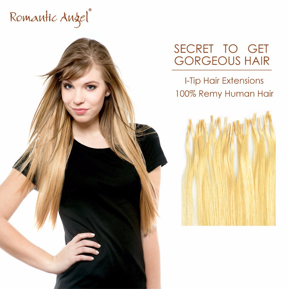 20 Inches 50cm / 24 inches 60cm Pre-Bonded I-Tip Hair Extensions 100% Remy Human Hair Cold Fusion Stick-Tip 25 pcs/pack