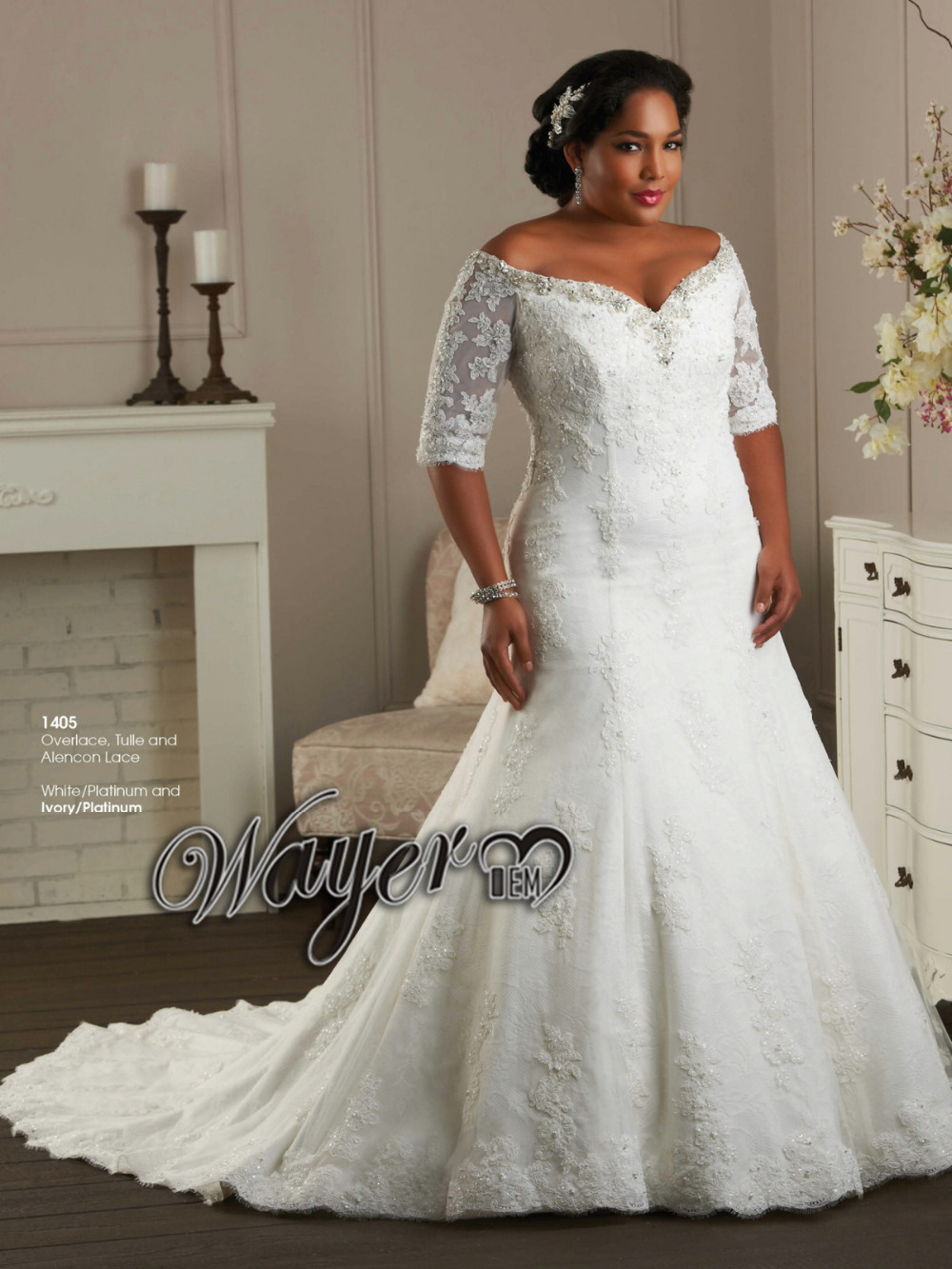 Aliexpresscom buy 2015 off the shoulder a line beaded for Off white plus size wedding dresses