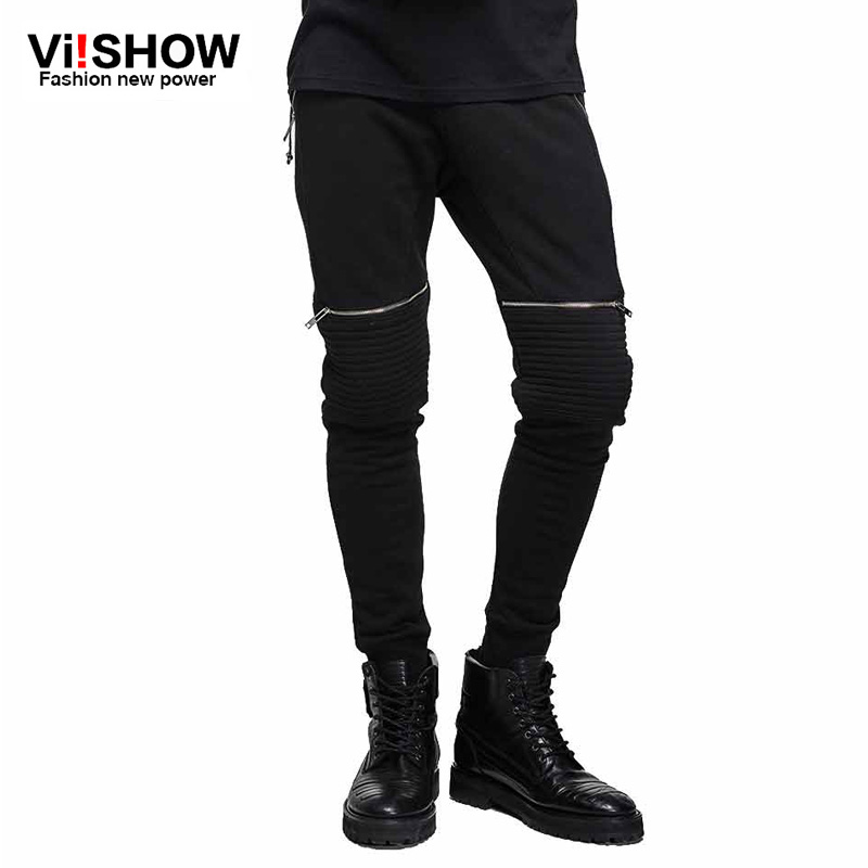 VIISHOW New Hip Hop Pants With Zippers Mens casual pants ...