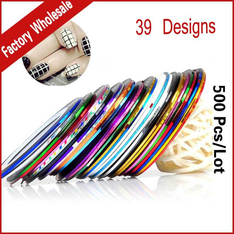 Nail Striping Tape Walmart: 39colors Metallic Yarn Line Rolls Striping Tape Nail