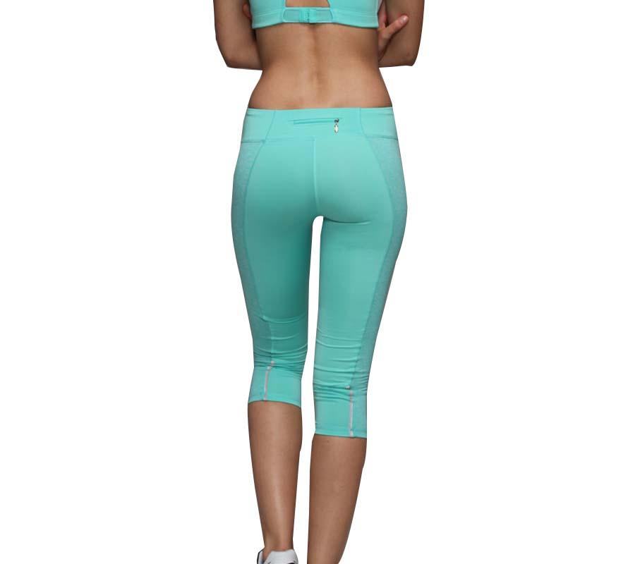 Elegant Blue Women Push Up Shaping Effect Pants