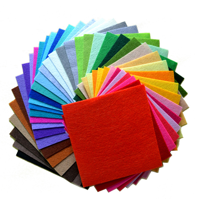 Low Price 100% 40colors/lot 10CMX15CM Felt Fabric,Polyester,Non-woven Felt,1 MM Thick,Handmade fabric DIY Not woven Cloth(China (Mainland))