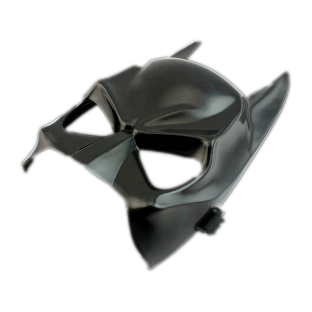 Movie Batman PVC Black Mask Superhero Adult Horror Scary Bat Masks The Dark Knight Returns Halloween Cosplay Costume100PCS EMS