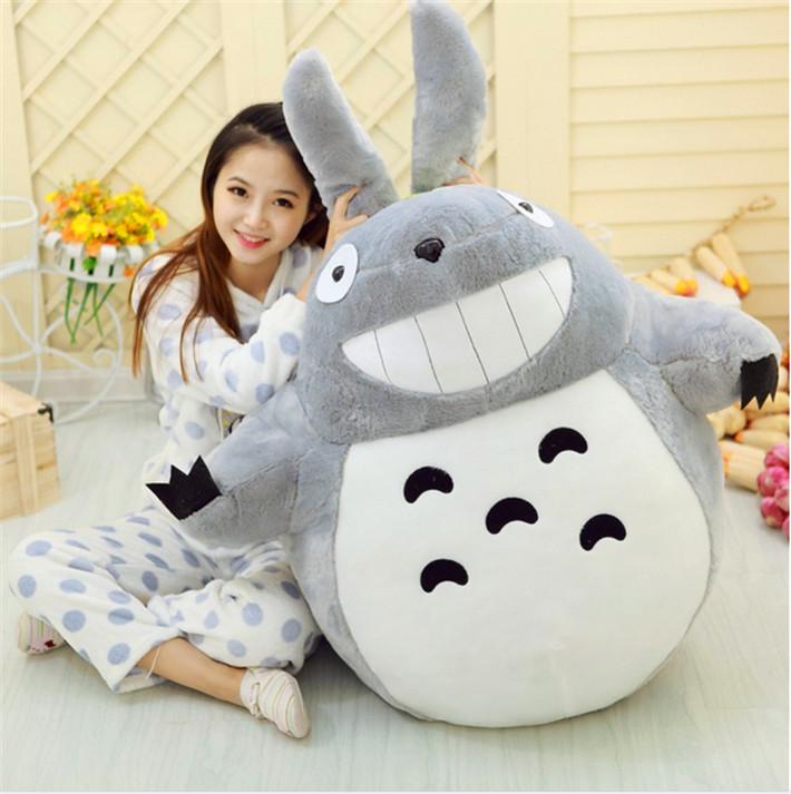 TV & Movie Character Legal Copy Miyazaki Hayao Totoro Cushion Plush Toy Hot Cute Big doll Bolster Toy Animal Free Shipping(China (Mainland))