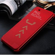 Luxury Ultra Flip Smart Slim Dot View Case Cover For HTC Desire 820 D820us d820u TPU sleep function phone cases(China (Mainland))