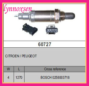 CITROEN / PEUGEOT Oxygen o2 sensor Denso lambda sensor Sonde lambda 0258003718(China (Mainland))