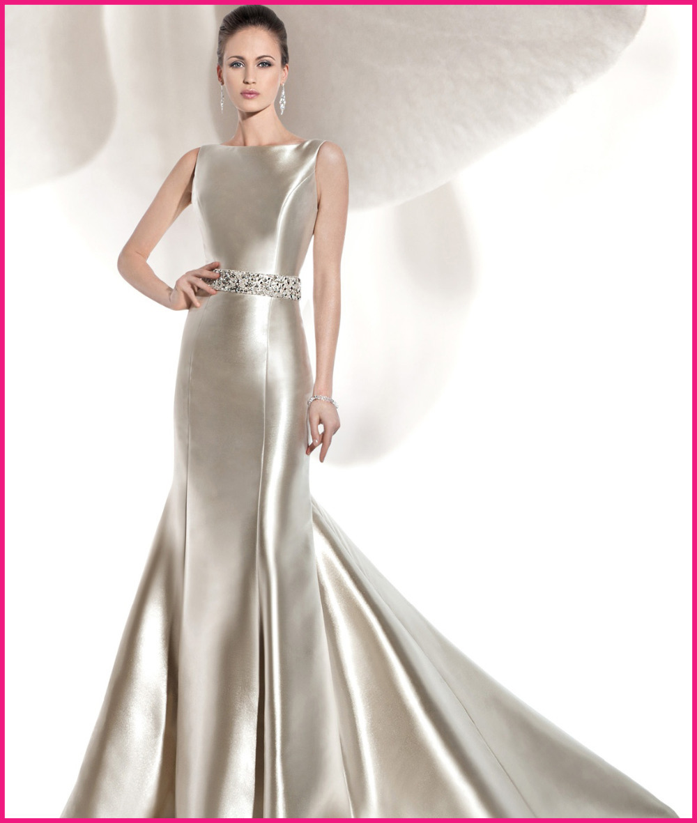 Satin Fit And Flare Wedding Dress Hot Girls Wallpaper