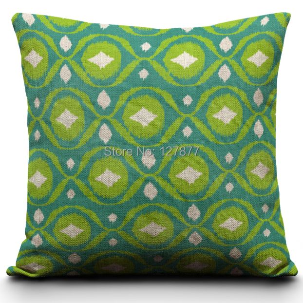 Custom Made Green Chair Pillows Beautiful Wave Shaped Decorative Throw Pillows High Quality Sofa ...