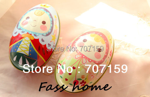 Easter egg Colorful eggs Unique design Large tin storage iron box wedding candy gift Big Size - kassia yao's store